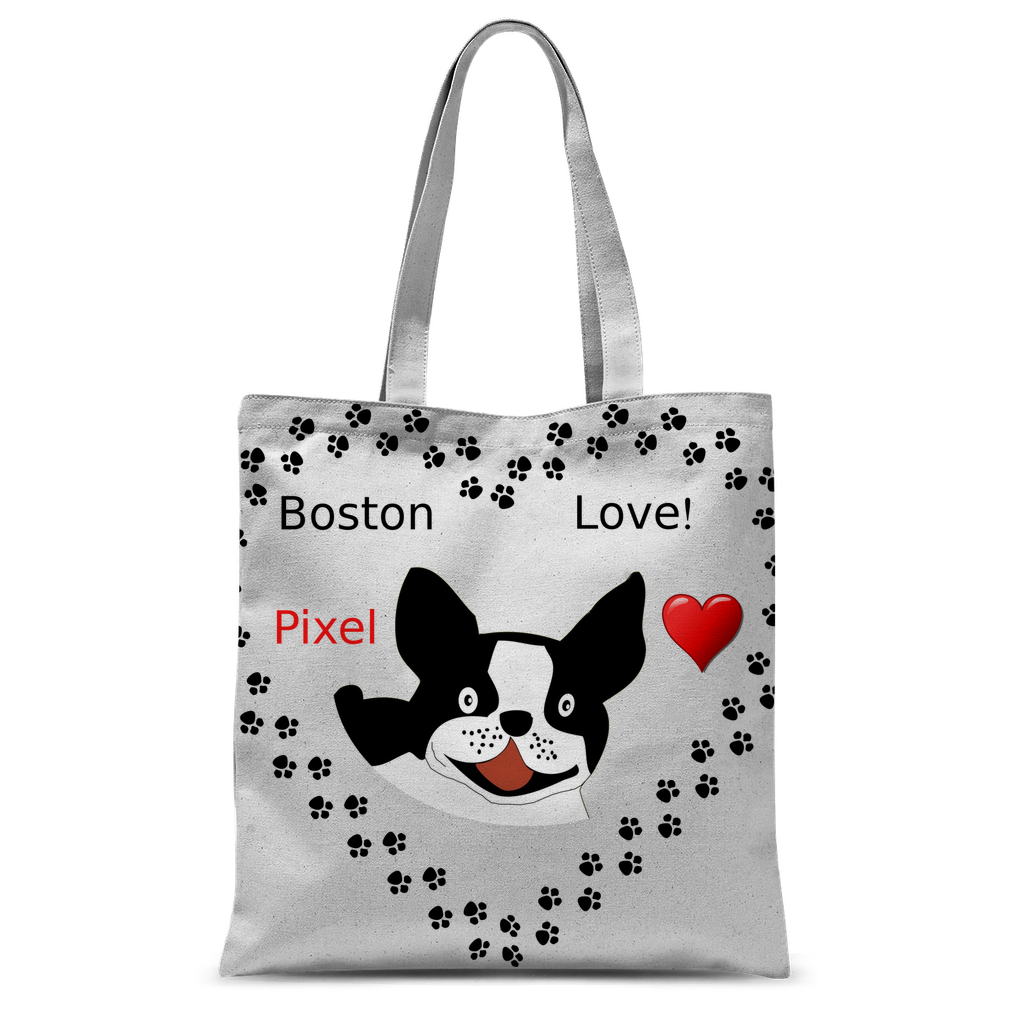 Love Boston Terriers Classic Sublimation Tote Bag