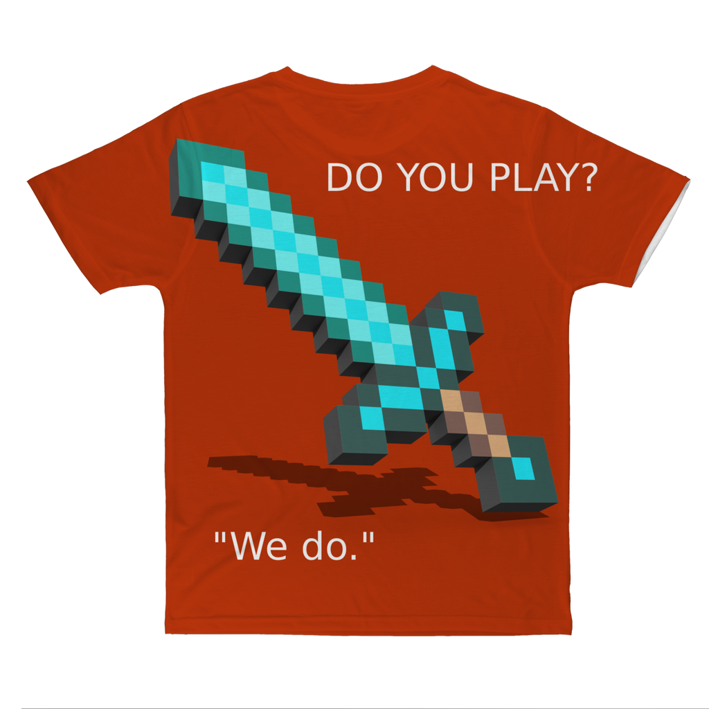 Mine-Craft Classic Sublimation Adult T-Shirt
