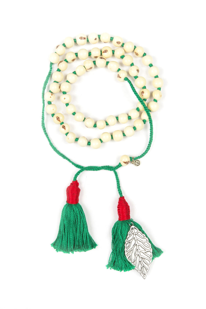 Mamapacha white with green tassel