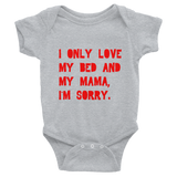 Bed and Mama Onesie