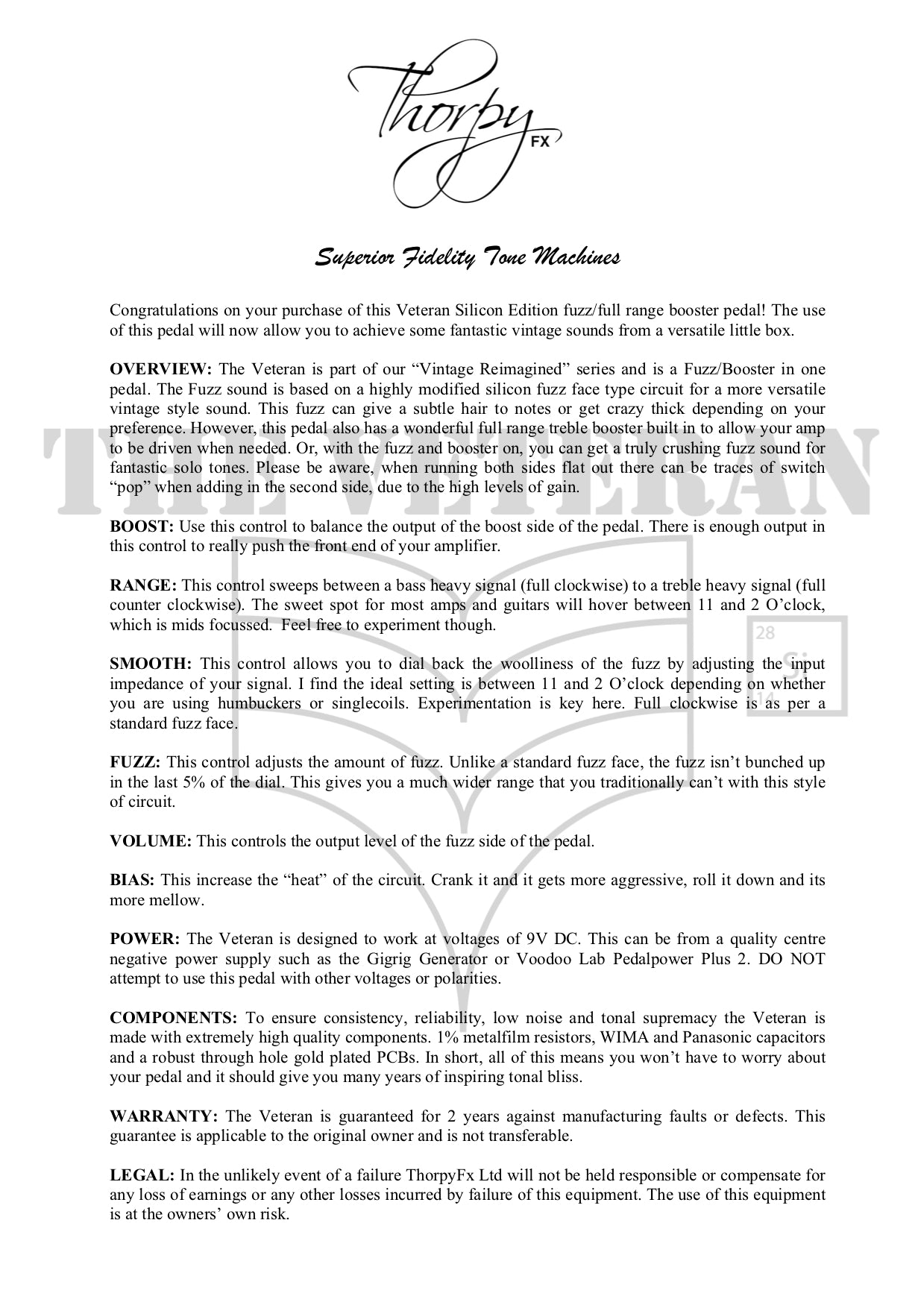 ThorpyFx Effects Operating Manuals – ThorpyFX Ltd