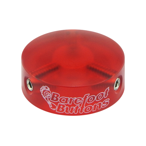Red Acrylic Barefoot Button V1