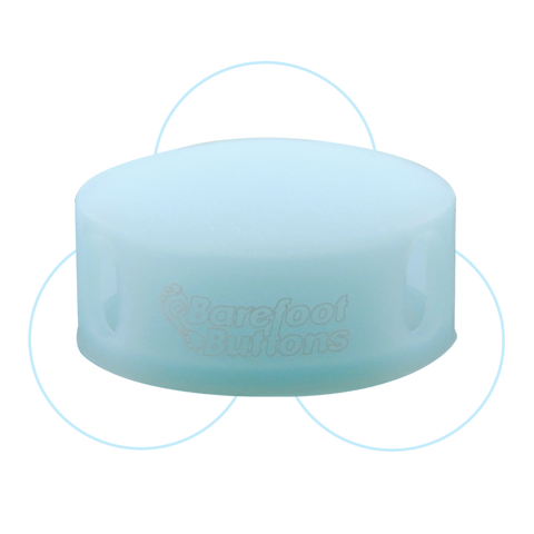 Barefoot Button - GLOWCAP Blue