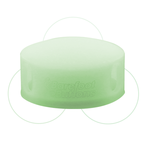 Barefoot Button - GLOWCAP Green