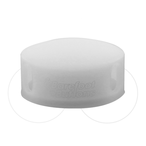 Barefoot Button - GLOWCAP White
