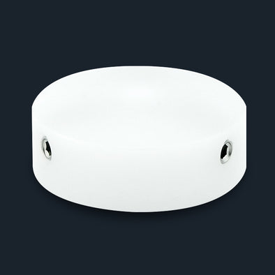 White Machined Plastic Barefoot Button V1
