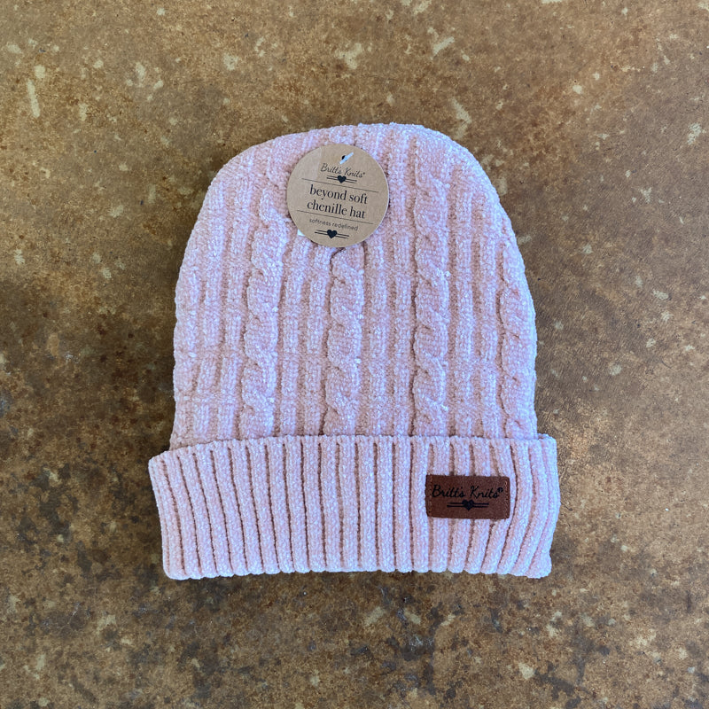Pink Chenille Hat