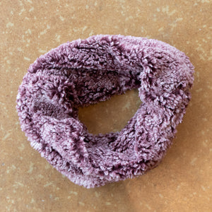 Burgundy Fleece Infinity Scarf