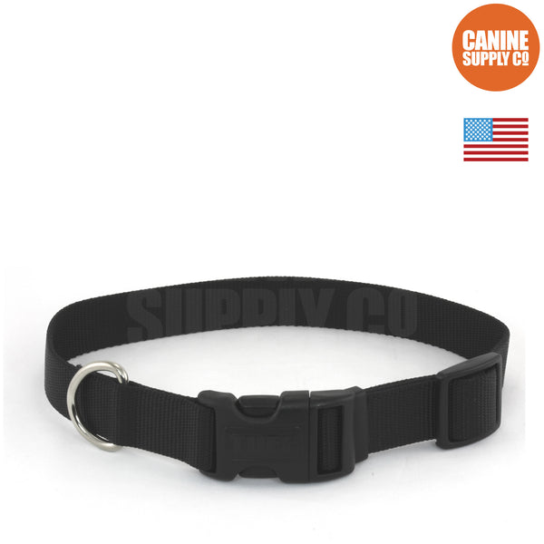 Coastal Pet Black Adjustable Nylon Dog Collar | Canine Supply Co.