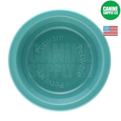Fiesta Petware Turquoise Porcelain Dog Bowl | Canine Supply Co.
