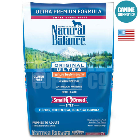 Natural Balance Original Ultra® Whole Body Health® Chicken, Chicken Meal, Duck Meal Small Breed Bites ® Dry Dog Formula | Canine Supply Co.