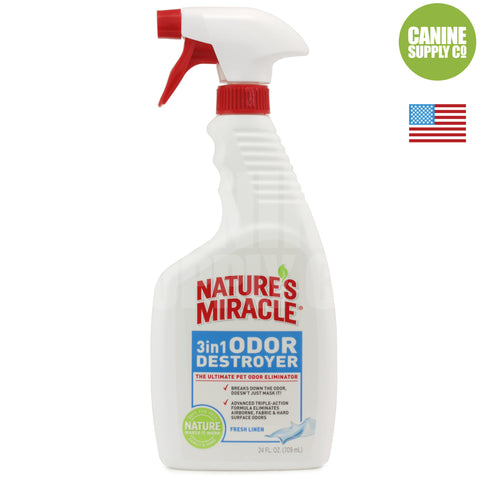 Nature's Miracle® 3-in-1 Odor Destroyer - Fresh Linen | Canine Supply Co.