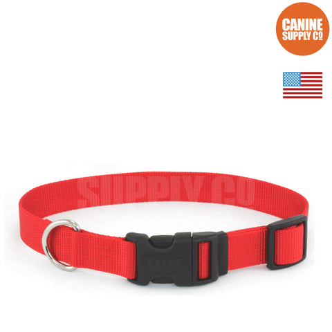 Coastal Pet Red Adjustable Nylon Dog Collar | Canine Supply Co.