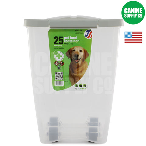 Van Ness™ 25-lb Pet Food Container | Canine Supply Co.