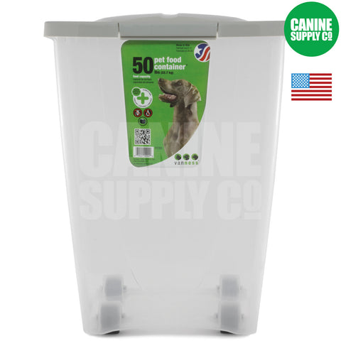 Van Ness™ 50-lb Pet Food Container | Canine Supply Co.