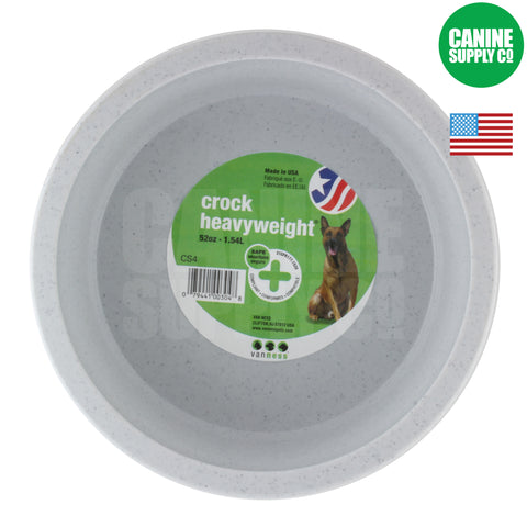 Van Ness™ Heavyweight Plastic Crock Dish | Canine Supply Co.