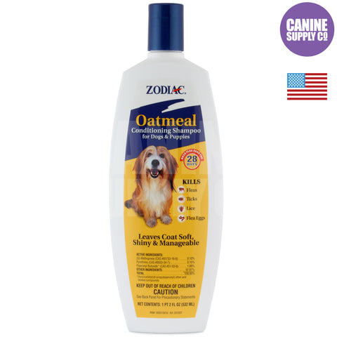 Zodiac® Oatmeal Conditioning Shampoo For Dogs & Puppies | Canine Supply Co.