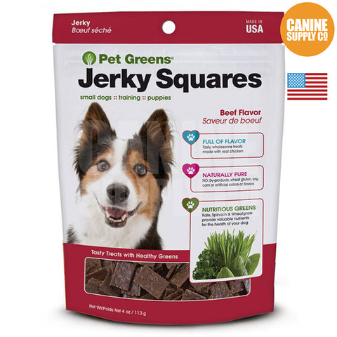Pet Greens® Jerky Squares Beef Flavor | Canine Supply Co.