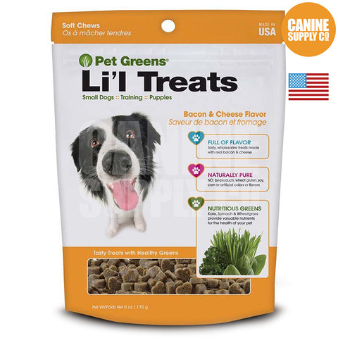 Pet Greens® Li'l Treats Bacon and Cheese Flavor | Canine Supply Co.