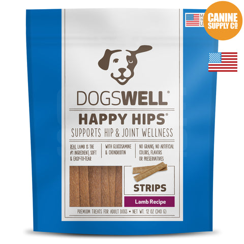 Dogswell Happy Hips® Strips Lamb Treats | Canine Supply Co.