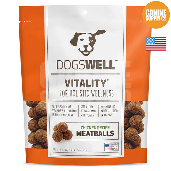 Dogswell Vitality® Meatballs Chicken Recipe Treats | Canine Supply Co.