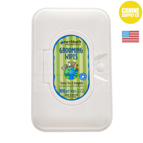 Earthbath® Green Tea Grooming Wipes | Canine Supply Co.