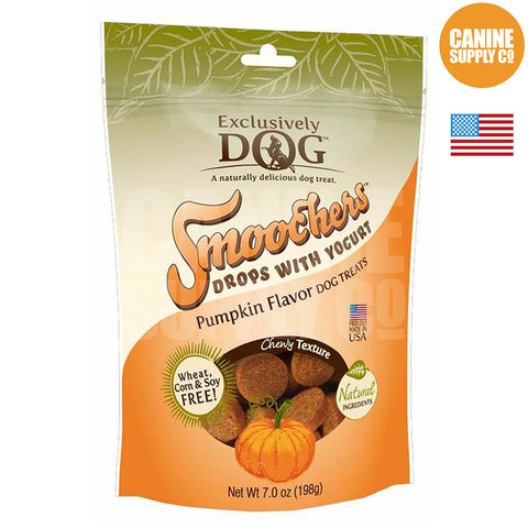 Exclusively Dog Smoochers Yogurt Drops Pumpkin Flavor | Canine Supply Co.