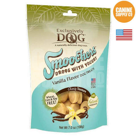 Exclusively Dog Smoochers Yogurt Drops Vanilla Flavor | Canine Supply Co.