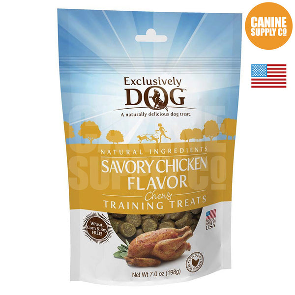 Exclusively Dog Chewy Training Treats Savory Chicken Flavor | Canine Supply Co.
