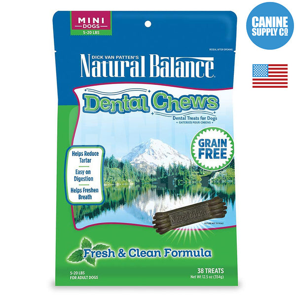 Natural Balance®  Dental Chews Fresh & Clean Formula, Mini | Canine Supply Co.