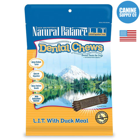 Natural Balance® Dental Chews L.I.T. with Duck Meal Formula | Canine Supply Co.