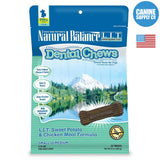 Natural Balance® Dental Chews L.I.T. Sweet Potato & Chicken Meal Formula, Small | Canine Supply Co.