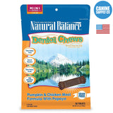 Natural Balance® Dental Chews Pumpkin & Chicken Meal Formula with Papaya, Mini | Canine Supply Co.