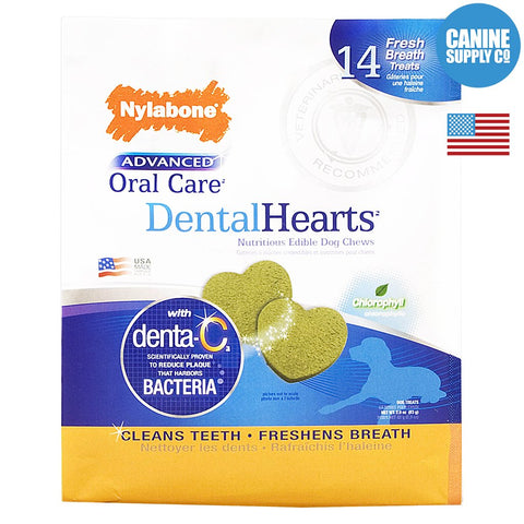 Nylabone Advanced Oral Care Heart Dental Treats for Dogs, 14ct | Canine Supply Co.