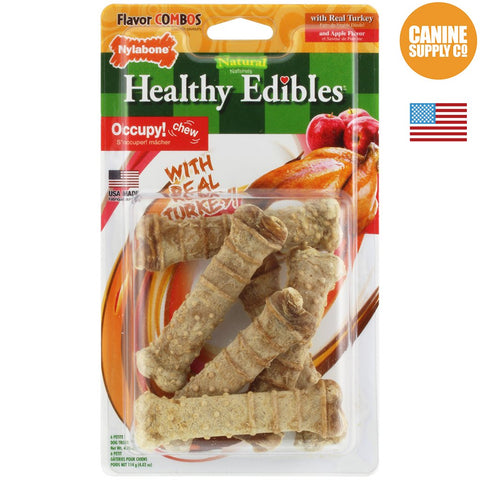 Nylabone Turkey & Apple Dog Treats 6ct | Canine Supply Co.