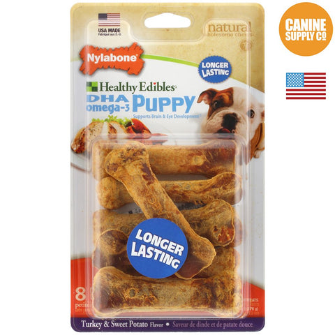 Nylabone Puppy Treats Potato & Turkey 4ct | Canine Supply Co.