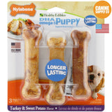 Nylabone Healthy Edibles Puppy Chew Treats, Sweet Potato & Turkey, Regular, 3ct