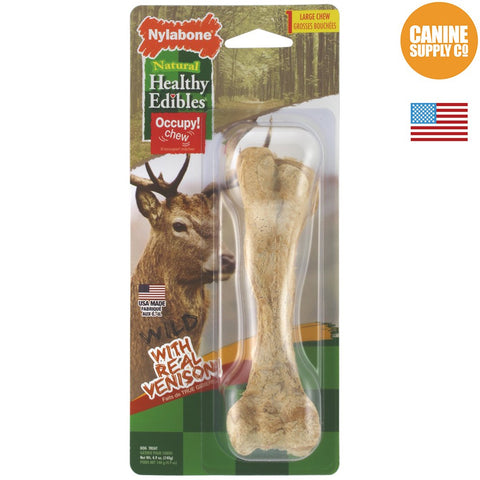 Nylabone Healthy Edibles Wild Chew Treats, Venison, Large | Canine Supply Co.