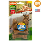 Nylabone Healthy Edibles Wild Chew Treats, Venison, Small, 4ct | Canine Supply Co.