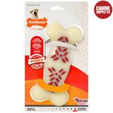 Nylabone Power Chew Action Ridges Chew Toy - Strong Nylon Bone, Bacon, Wolf