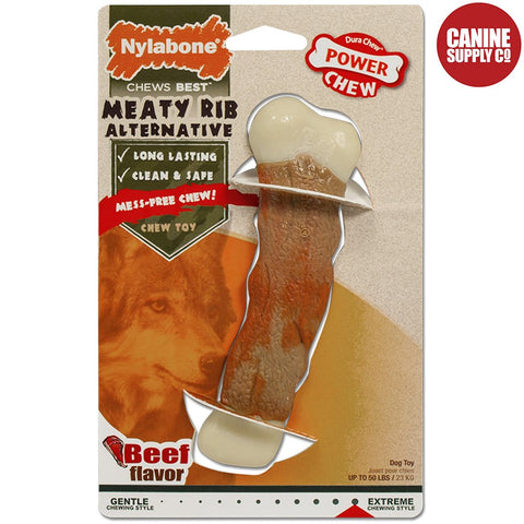 Nylabone Power Chew Meaty Rib Alternative Chew Toy, Giant | Canine Supply Co.