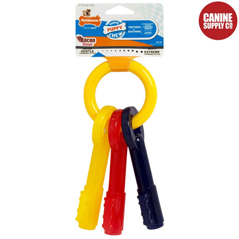 Nylabone Puppy Teething Keys, X-Small | www.caninesupplyco.com
