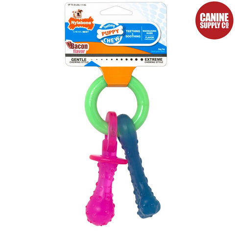 Nylabone Puppy Teething Pacifier - Soft & Flexible, Petite | Canine Supply Co.