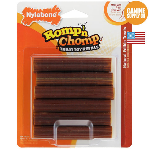 Nylabone Romp 'n Chomp Treat Refill, Bar, 12ct | Canine Supply Co.
