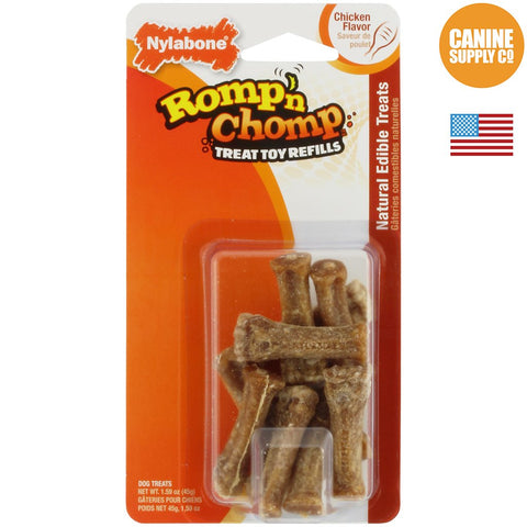 Nylabone Romp 'n Chomp Treat Refill, Mini, 9ct | Canine Supply Co.