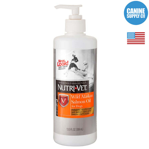 Nutri-Vet Wild Alaskan Salmon Oil for Dogs, 13.5-Oz. Bottle