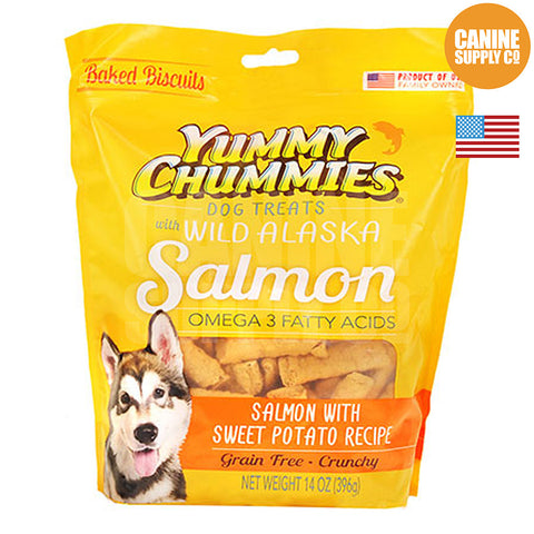 Yummy Chummies® Salmon With Sweet Potato Recipe Biscuits | Canine Supply Co.
