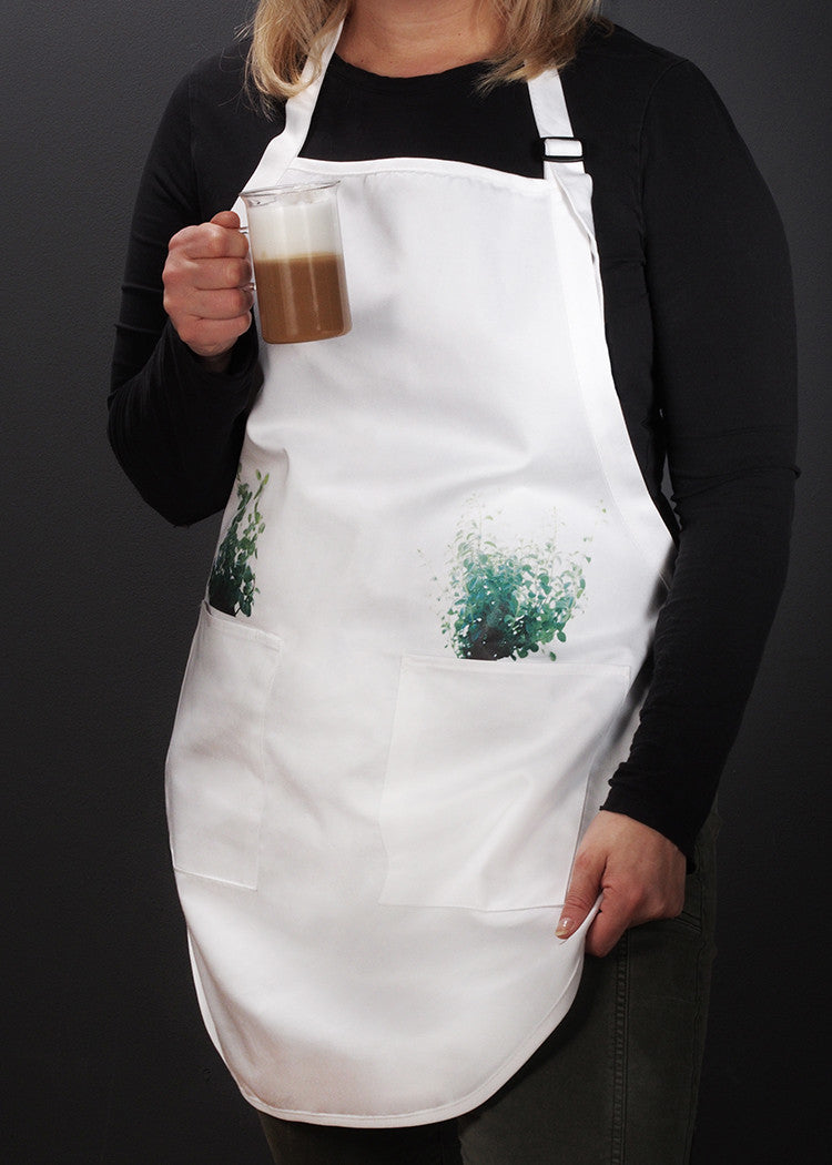 Basil and Oregano Apron