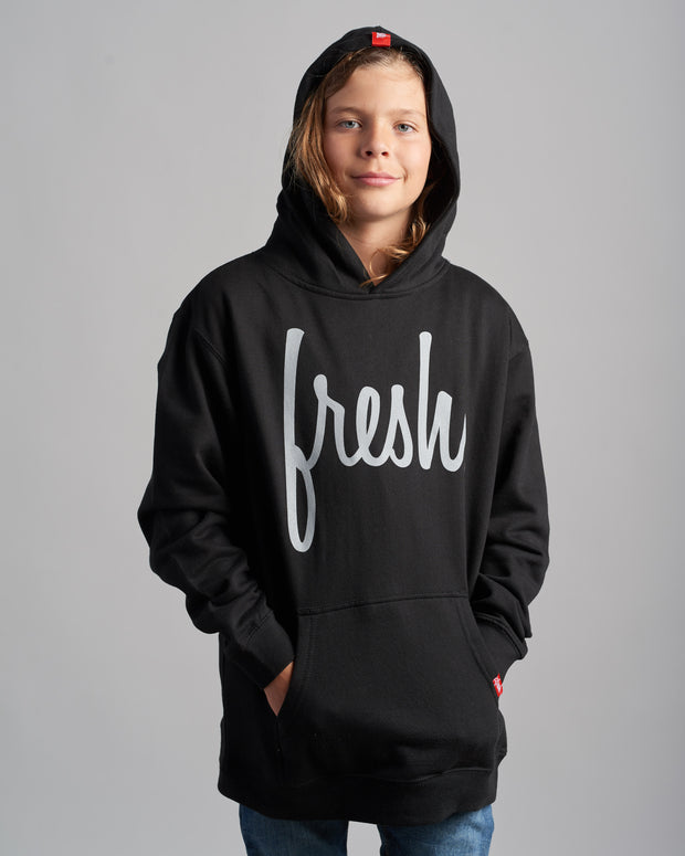 Lil' Fresh Hoodie - Black with Grey