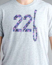 22Fresh Jagged Camo Tshirt - Heather Grey
